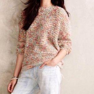ANTHROPOLOGIE La Fee Verte Popcorn Knit Sweater M